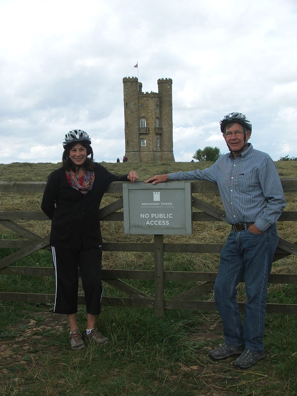 Jane and Mike at Broadway Tower, July 2016