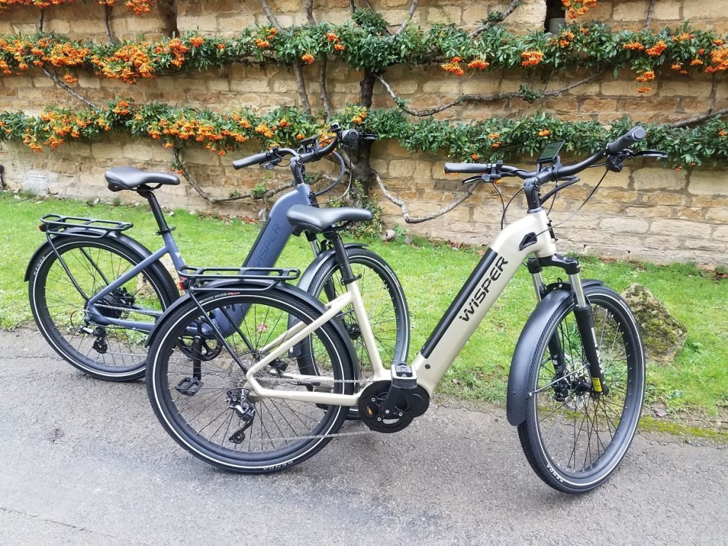 Wisper e-bikes in the Cotswolds